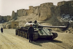 In Ghazni with a Soviet tank