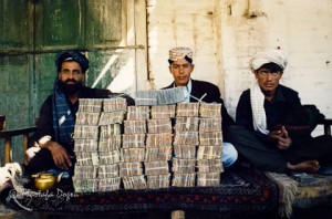 Money changer in Afghanistan