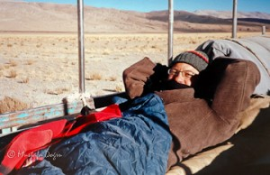 Traveling on truck in Western Tibet
